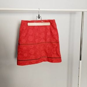 Finders Keepers Red Eyelet Lace Lunar Skirt